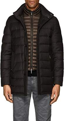 Moorer Men's Down-Quilted Wool-Cashmere Coat - Brown