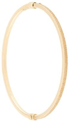 Carolina Bucci Half florentine finish oval bangle with clasp