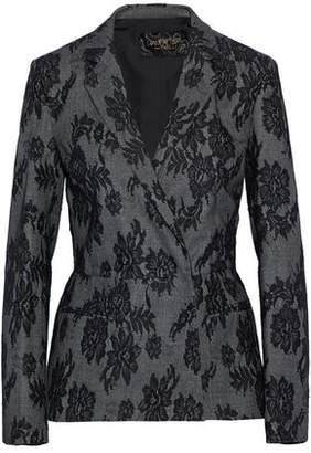 Giambattista Valli Lace-Appliquéd Wool Jacket