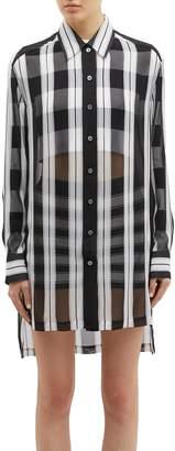 Marc Jacobs Oversized stripe silk chiffon shirt