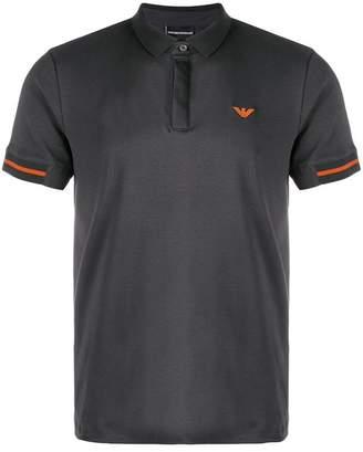 Emporio Armani contrast logo polo shirt
