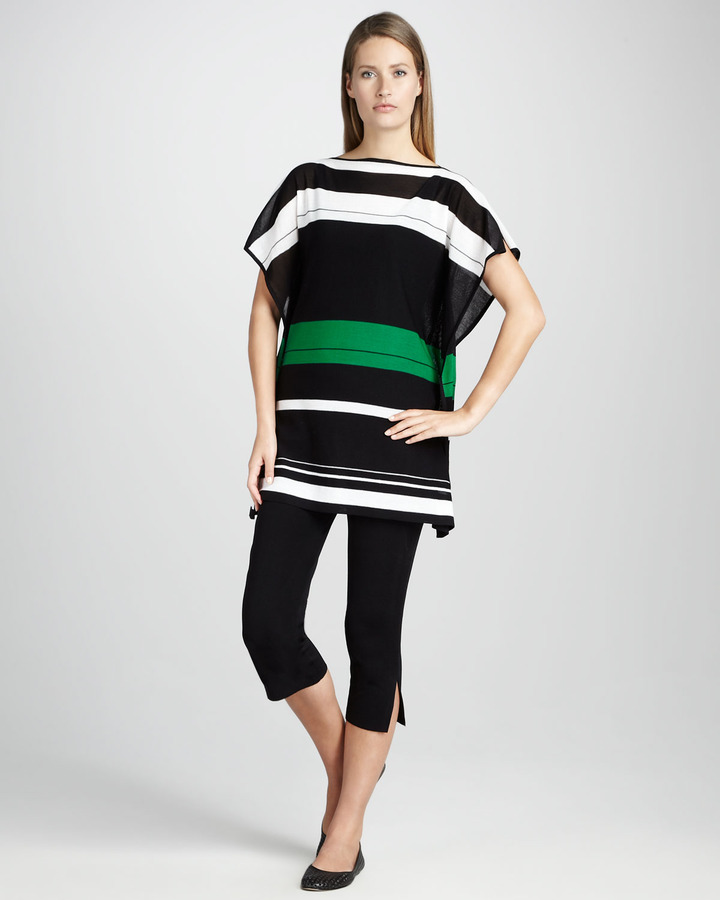 Misook Collection Striped Jersey Top, Women's