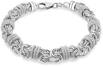 02b1110cb9a55c Tuscany Silver Sterling Silver Chunky Byzantine and Rings Bracelet of  Length 21cm21