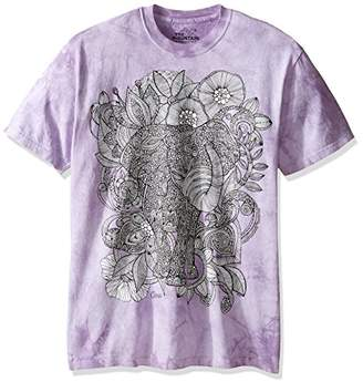 The Mountain Men's Colorwear Bo The Elephant Adult Coloring T-Shirt
