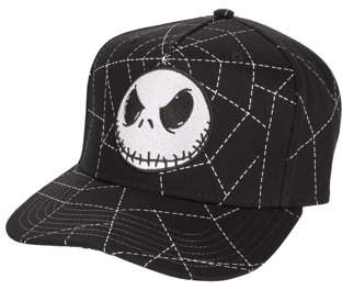 4c57e75db70 The Nightmare Before Christmas Jack Skellington Flat Bill Snapback Cap With  All-Over Spider Web