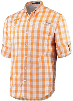 Columbia Unbranded Men's Tennessee Orange Tennessee Volunteers Super Tamiami Long Sleeve Button-Down Omni-Shade Shirt