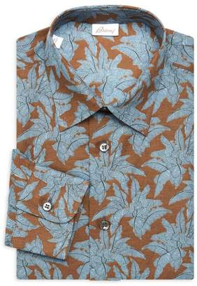 Brioni Floral Dress Shirt