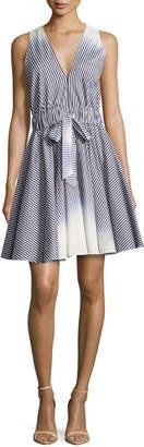 Milly Lola Sleeveless Ombre-Striped Dress, Navy