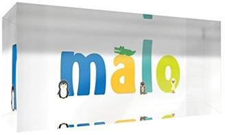clear Little Helper Souvenir Decorative Polished Acrylic Diamond Style Colour Example with Boy Name Malo 5 x 21 x 2 cm Large