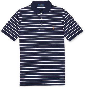 Polo Ralph Lauren Slim-Fit Striped Cotton Polo Shirt - Men - Navy