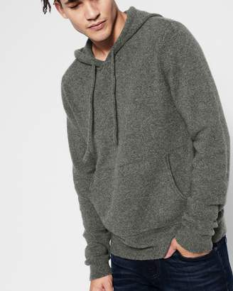 7 For All Mankind Pullover Sweater Hoodie in Heather Charcoal