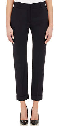 Barneys New York Women's Suiting Twill Crop Trousers - Navy