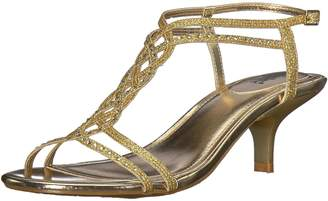 Kenneth Cole New York Unlisted by Kenneth Cole Women's Kind Gal 7 Kitten Heel Glitzy Wedge Sandal