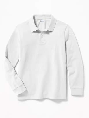 Old Navy Built-In Flex Long-Sleeve Uniform Pique Polo for Boys