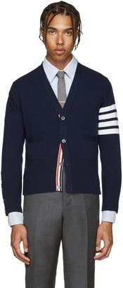 Thom Browne Navy Cashmere Cardigan $1,790 thestylecure.com