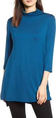 Michael Stars High/Low Mock Neck Top