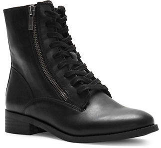 Lucky Brand Hildran Leather Moto Booties