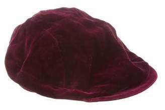 Albertus Swanepoel Velvet Newsboy Cap