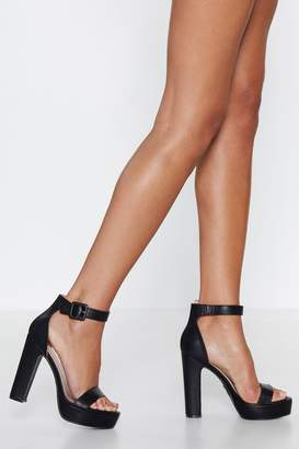 Nasty Gal Sorry to Platform You Faux Leather Heel