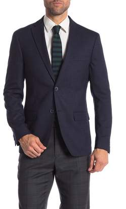 Tommy Hilfiger Navy Weave Two Button Notch Lapel Classic Fit Blazer