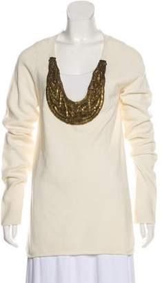 Adam Embellished Wool-Blend Sweater