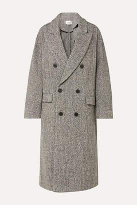 Etoile Isabel Marant Habra Double-breasted Bouclé Coat - Gray