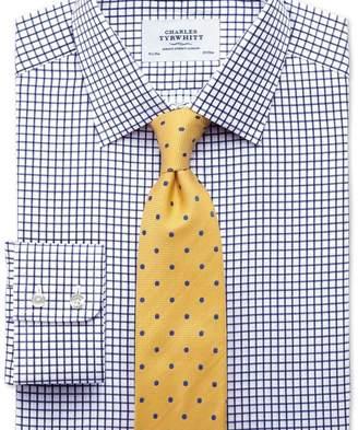 Charles Tyrwhitt Extra slim fit twill grid check navy shirt