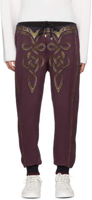Dolce & Gabbana Burgundy Knight Lounge Pants