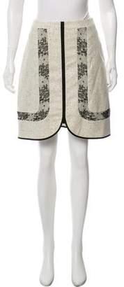 Jason Wu Wool Lace-Accented Skirt