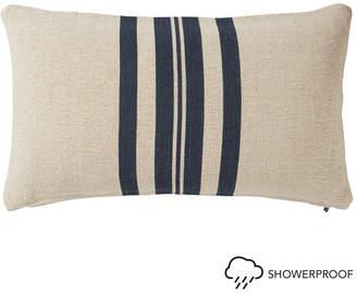OKA Kyuu Outdoor Cushion Cover & Pad, Small - Wide Stripe - Navy