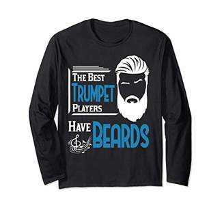 Trumpet Male Brass Player Beard T-shirt Band Orchestra Gift