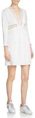 Maje Riam Crochet-Detail Dress $295 thestylecure.com