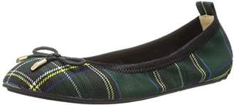 Yosi Samra Girls' Sawyer Plaid Ballet Flat