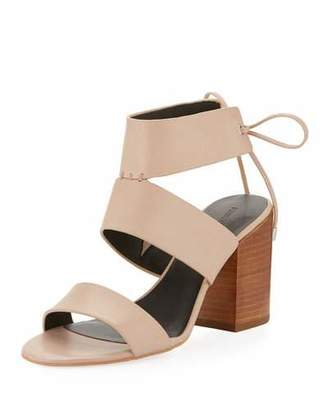 Rebecca Minkoff Christy Leather City Sandal, Nude $150 thestylecure.com