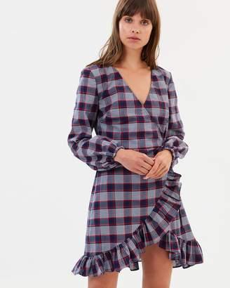 The Fifth Label Phonic Tartan Wrap Dress