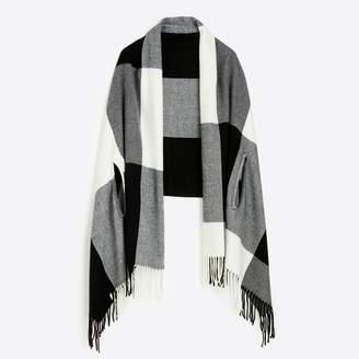 J.Crew Factory Plaid cape-scarf