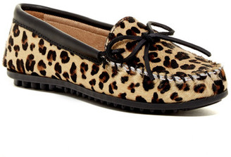 Minnetonka Full Leopard Genuine Calf Hair Moccasin (Women) $65.95 thestylecure.com