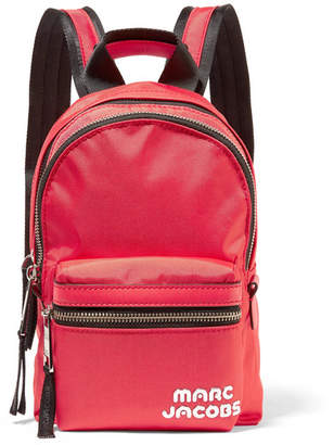 Marc Jacobs Trek Pack Medium Leather-trimmed Shell Backpack - Red