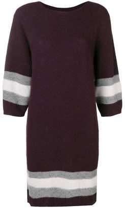 Lorena Antoniazzi contrast knitwear dress