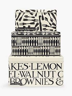 Emma Bridgewater Knives & Forks Square Cake Tins, Set of 3