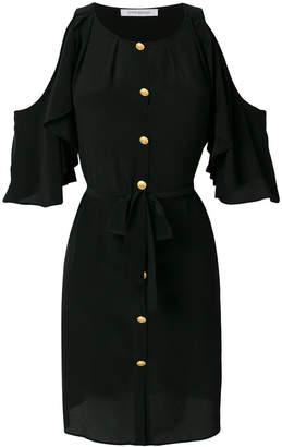 Pierre Balmain cold shoulder mini dress