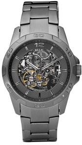 Fossil Relic by Men's Brennan Automatic Skeleton Gunmetal Watch ZR11853