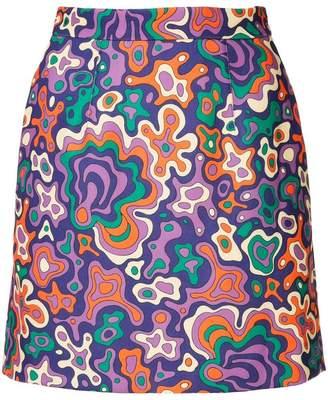 G.V.G.V. psychedelic print mini skirt