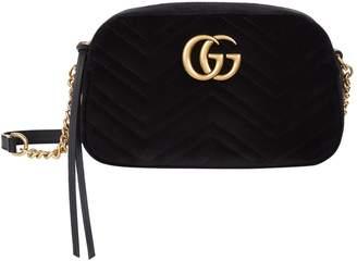 Gucci Small Velvet Marmont Matelasse Cross Body Bag