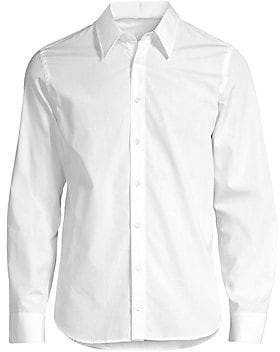 Helmut Lang Men's Printed Long-Sleeve Button-Down Shirt