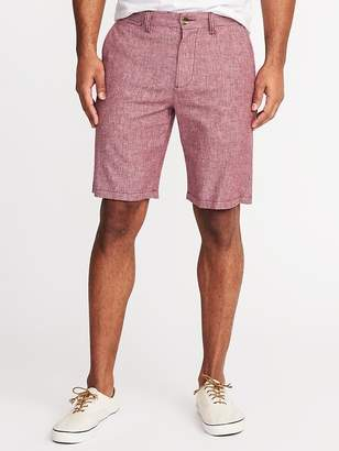 "Old Navy Ultimate Slim Built-In Flex Linen-Blend Shorts for Men (10"")"