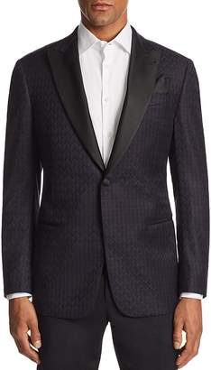 Emporio Armani G-line Tonal-Printed Tailored Fit Jacket
