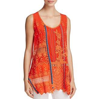 Johnny Was Women's Mixed Embroidered Tank