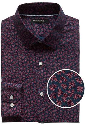 Banana Republic Grant Slim-Fit Non-Iron Leaf Print Shirt