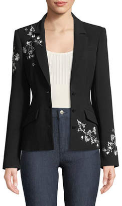 Cinq à Sept Gabrielle Floral Embroidered Blazer
